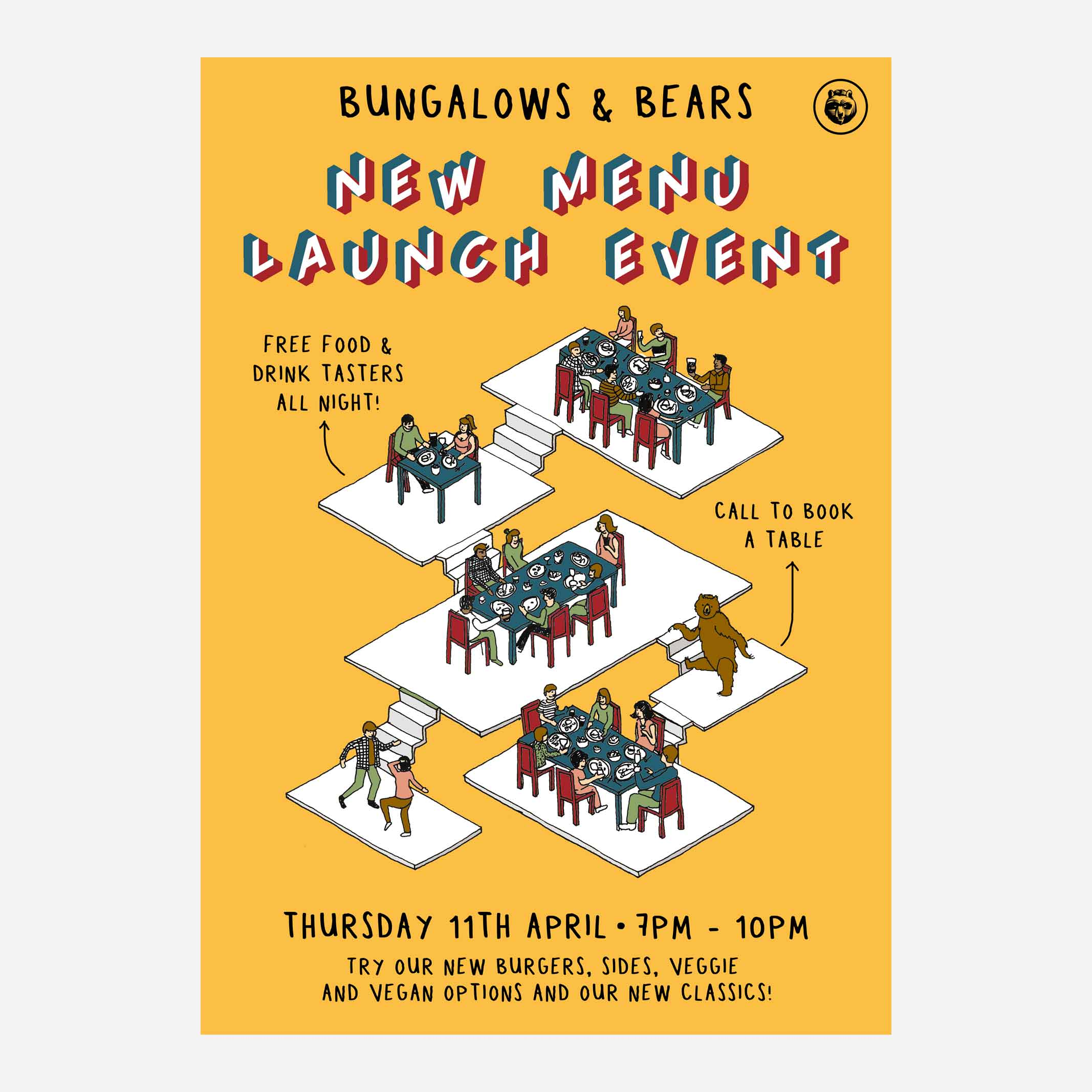 BUNGALOWS & BEARS NEW MENU